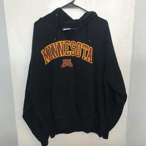 Other - University of Minnesota Black V Neck Hoodie